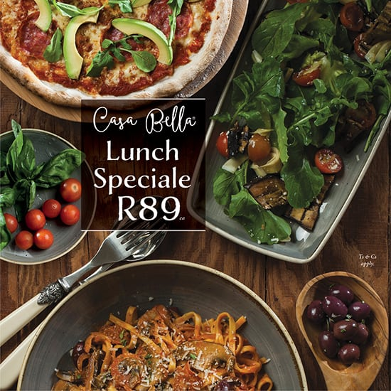 Casa Bella Lunch Offer mobile banner image