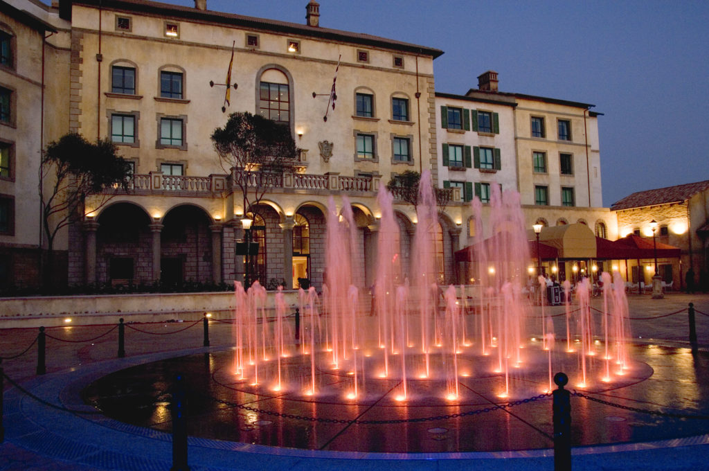 Fountain by the SunSquare Montecasino hotel