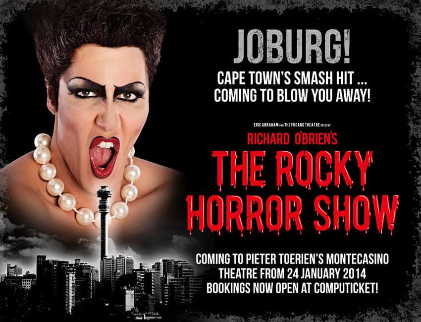 The Rocky Horror Show 2014 event banner